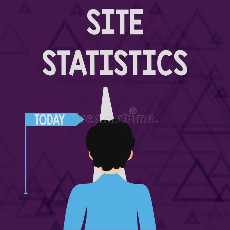 Σημείωση γραψίματος που παρουσιάζει στατιστικές περιοχών Μέτρηση επίδειξης επιχειρησιακών φωτογραφιών της συμπεριφοράς των επισκε ελεύθερη απεικόνιση δικαιώματος