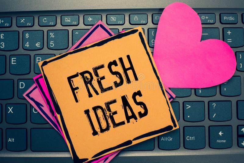 Σημείωση γραψίματος που παρουσιάζει φρέσκες ιδέες Σκέψη ή πρόταση επίδειξης επιχειρησιακών φωτογραφιών ως προς τα πιθανά έγγραφα  στοκ εικόνες