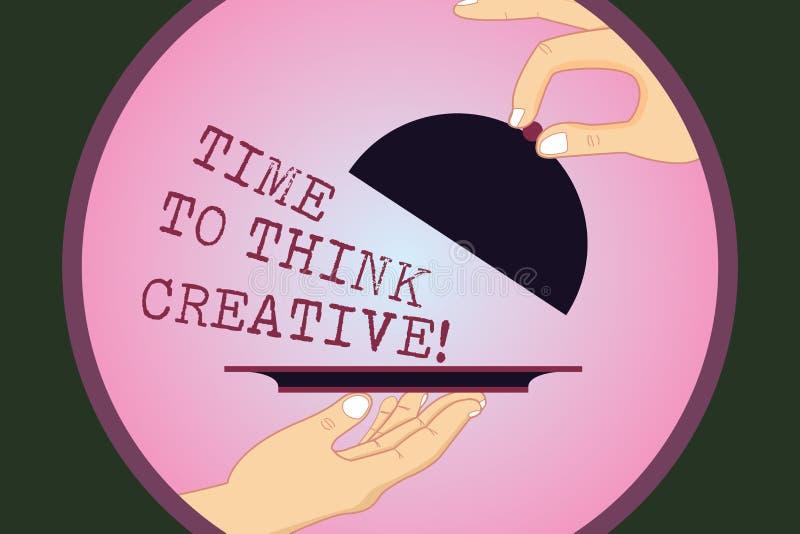 Σημείωση γραψίματος που παρουσιάζει χρόνο να σκεφτεί δημιουργικός Αρχικές ιδέες δημιουργικότητας επίδειξης επιχειρησιακών φωτογρα απεικόνιση αποθεμάτων