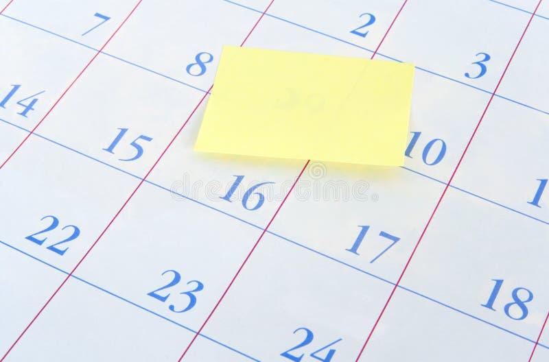 σημείωση ημερολογιακών &u στοκ εικόνα