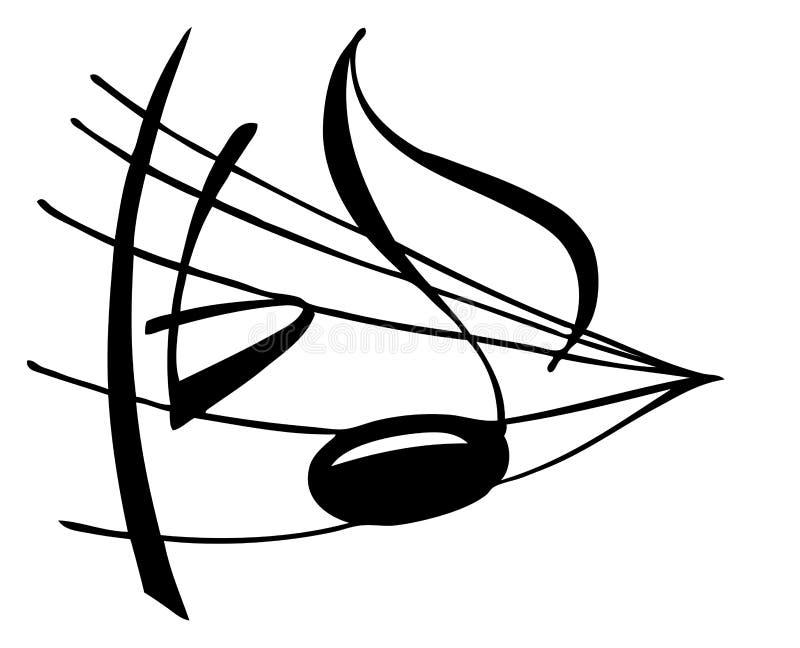 σημείωση μουσικής απεικόνιση αποθεμάτων
