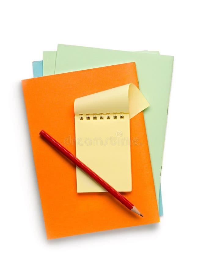 σημειωματάρια στοκ εικόνα