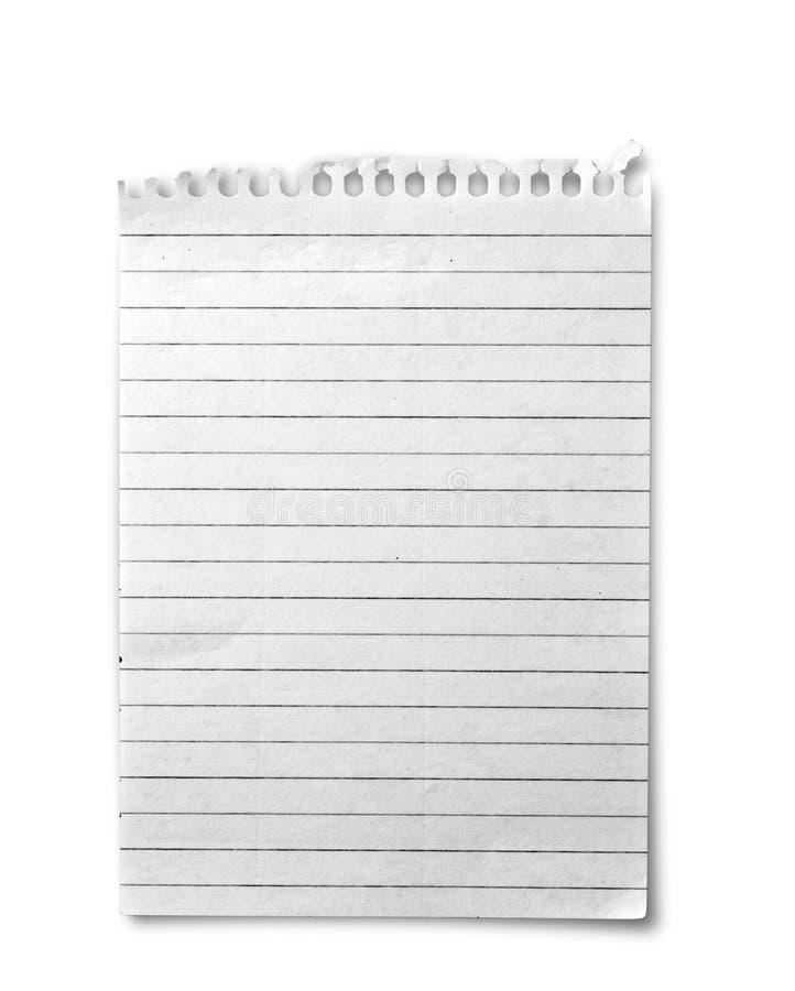 σημειωματάριο ένα φύλλο στοκ φωτογραφία με δικαίωμα ελεύθερης χρήσης