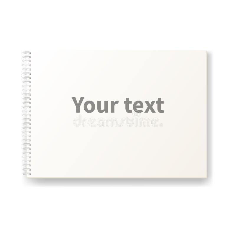 Σημειωματάριο για τα σκίτσα διανυσματική απεικόνιση