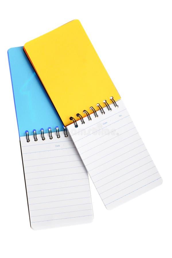 σημειωματάριο δύο χρώματο στοκ φωτογραφία