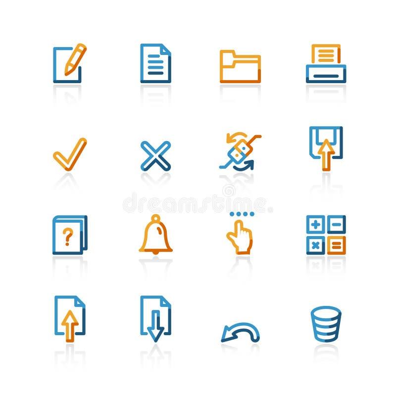 σημειωματάριο εικονιδί&omeg απεικόνιση αποθεμάτων