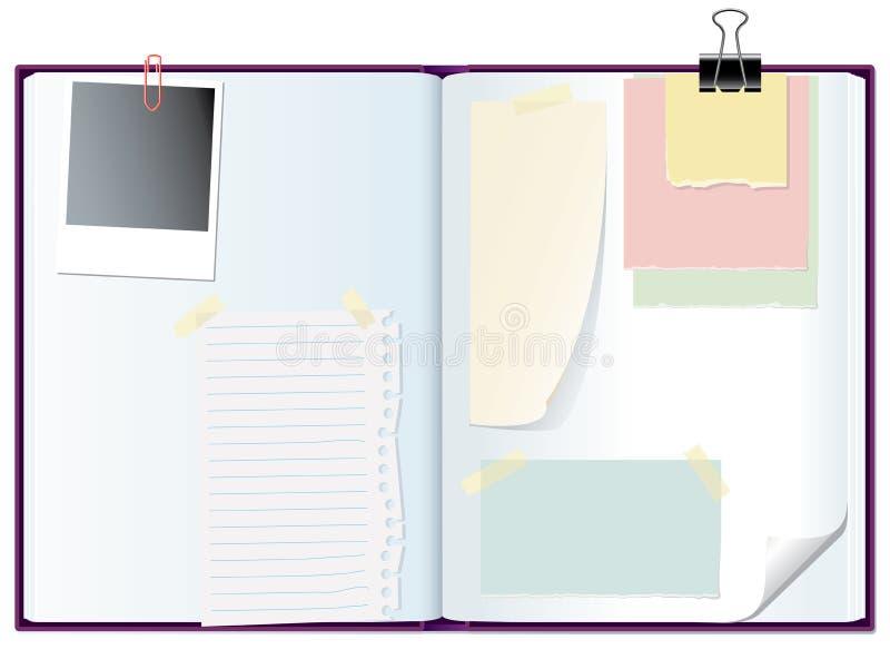 σημειωματάριο υπομνημάτω&n απεικόνιση αποθεμάτων