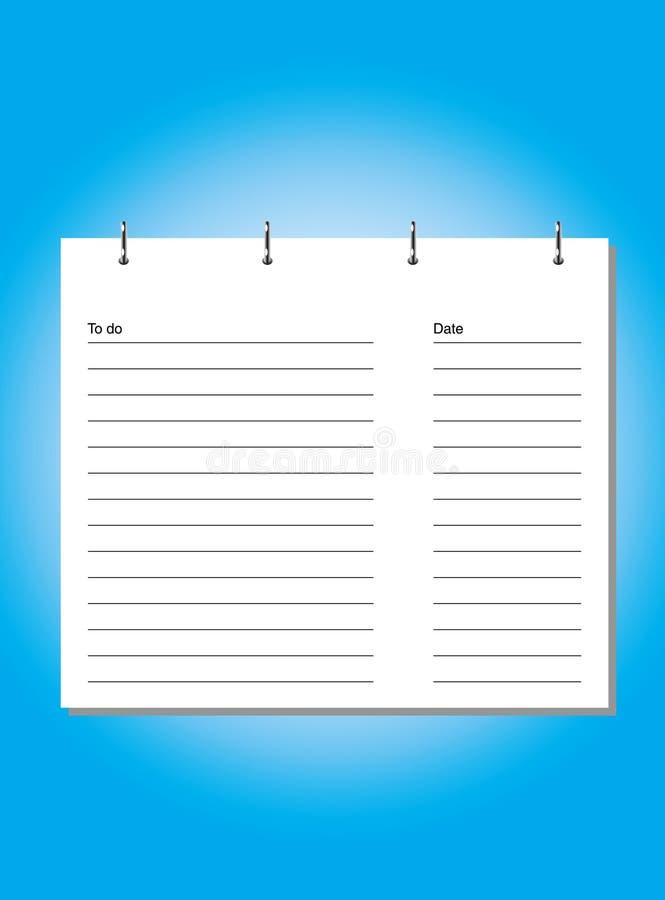 σημειωματάριο διανυσματική απεικόνιση