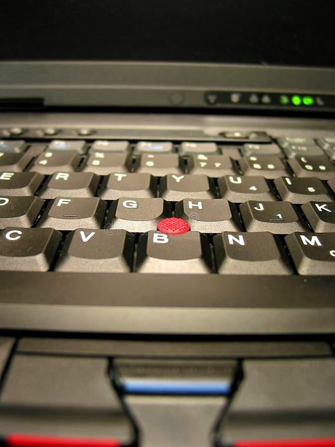 σημειωματάριο lap-top πληκτρολογίων στοκ εικόνα