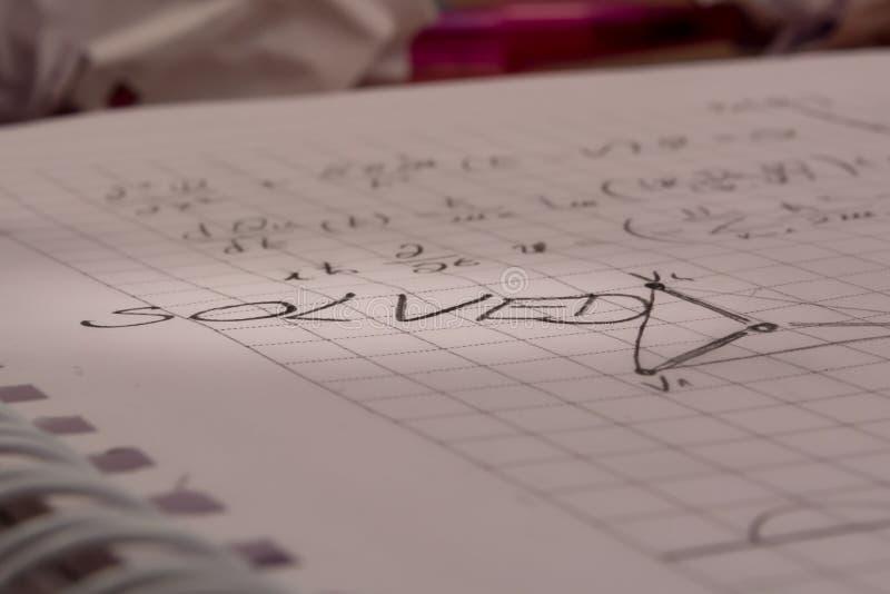 Σημειωματάριο Math στοκ εικόνα με δικαίωμα ελεύθερης χρήσης