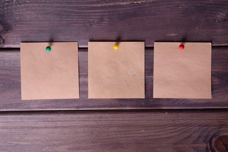 Σημειώσεις, αυτοκόλλητες ετικέττες στοκ εικόνες