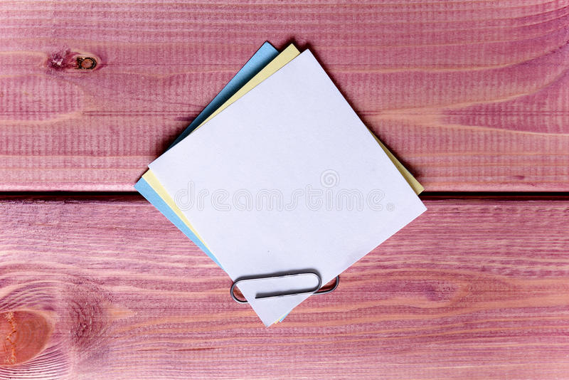 Σημειώσεις, αυτοκόλλητες ετικέττες στοκ εικόνα