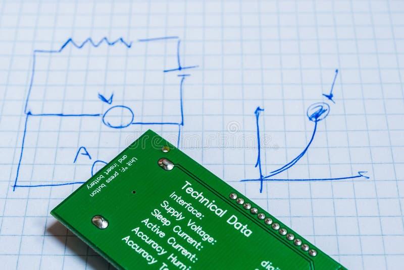 Σημειώσεις για τα ηλεκτρικά κυκλώματα στοκ εικόνες με δικαίωμα ελεύθερης χρήσης