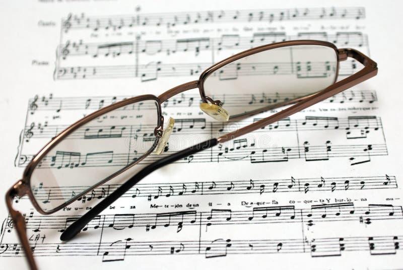 σημειώσεις γυαλιών στοκ εικόνα