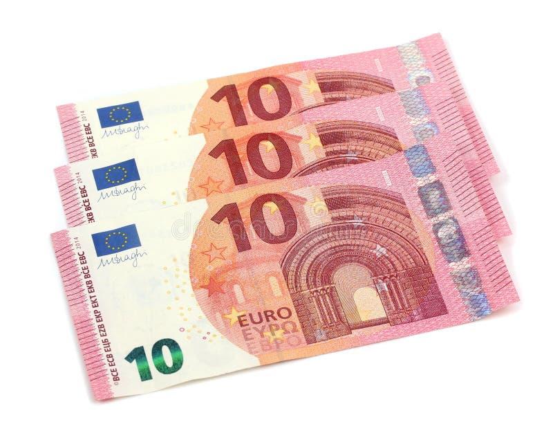 Σημειώσεις 10 ευρώ στοκ εικόνα με δικαίωμα ελεύθερης χρήσης