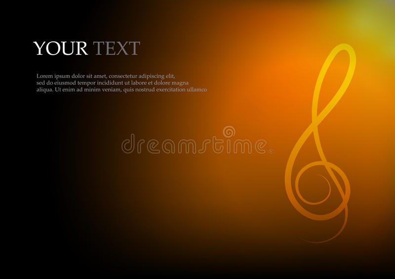 Σημειώσεις και διάστημα μουσικής για το υπόβαθρο κειμένων ελεύθερη απεικόνιση δικαιώματος