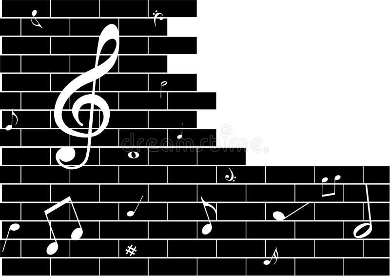 σημειώσεις μουσικής απ&eps διανυσματική απεικόνιση