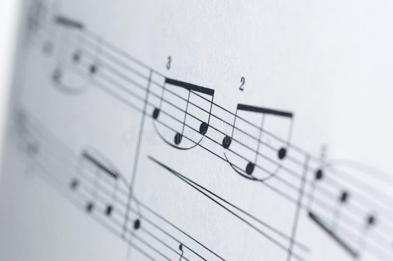 Σημειώσεις μουσικής για το άσπρο υπόβαθρο ελεύθερη απεικόνιση δικαιώματος