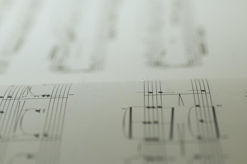 Σημειώσεις μουσικής για το άσπρο υπόβαθρο απεικόνιση αποθεμάτων