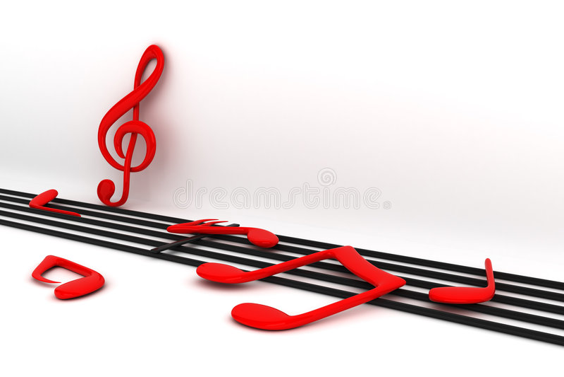 σημειώσεις μουσικής απεικόνιση αποθεμάτων