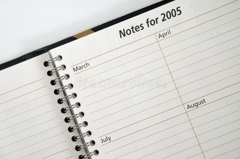 σημειώσεις του 2005 στοκ φωτογραφία
