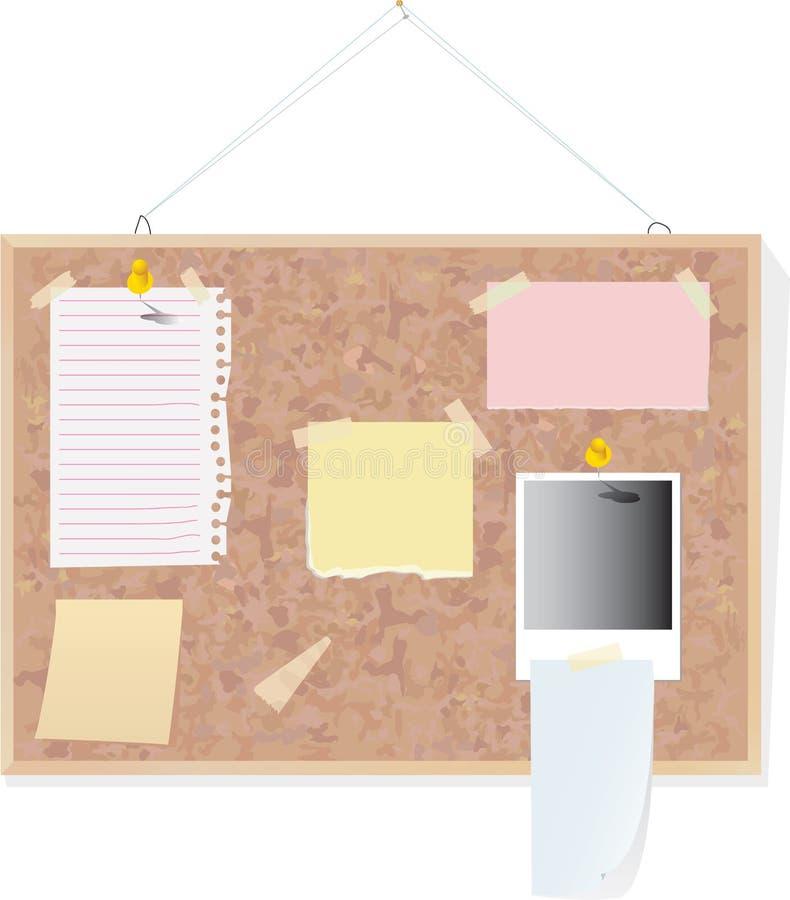 σημειώσεις φελλού χαρτ&omi απεικόνιση αποθεμάτων