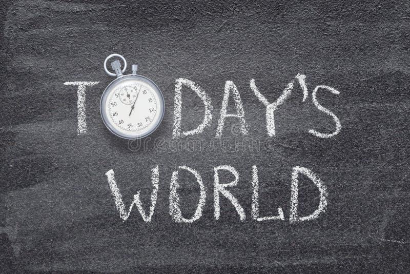 Σημερινό παγκόσμιο ρολόι στοκ φωτογραφίες με δικαίωμα ελεύθερης χρήσης