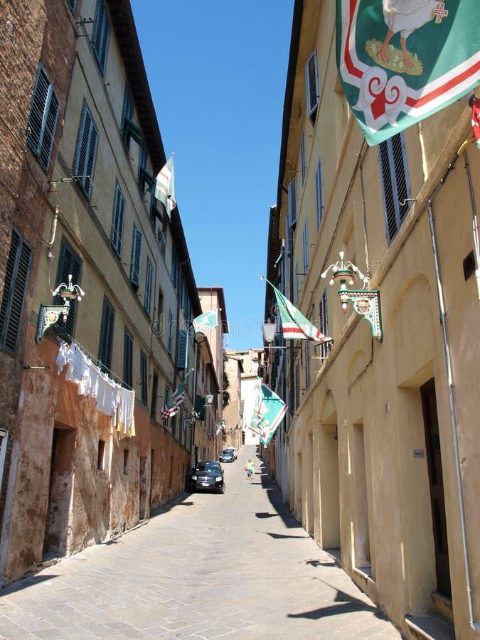 Σιένα πριν από το Palio, Ιταλία στοκ εικόνες
