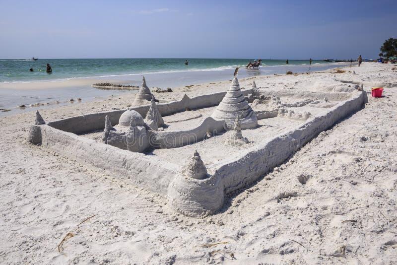 Σιέστα βασική Φλώριδα του Castle άμμου στοκ εικόνα