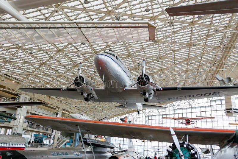 ΣΙΑΤΛ, WA - 8 ΑΠΡΙΛΊΟΥ 2017: Το μουσείο της πτήσης στο Σιάτλ, Ουάσιγκτον, ΗΠΑ στοκ εικόνες με δικαίωμα ελεύθερης χρήσης