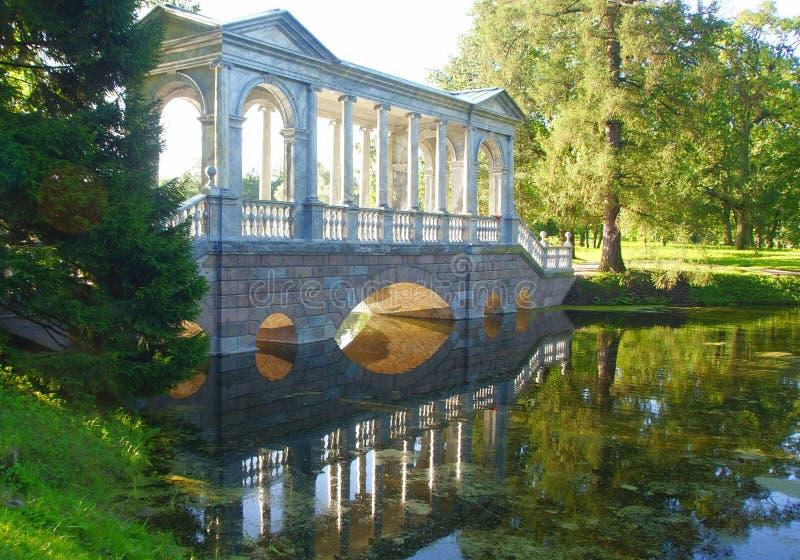 Σιβηρική γέφυρα στο πάρκο της Catherine στοκ φωτογραφία με δικαίωμα ελεύθερης χρήσης