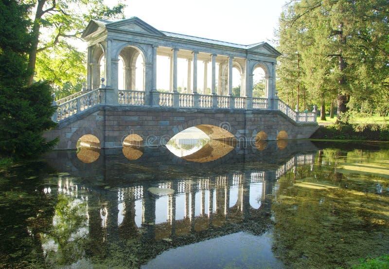 Σιβηρική γέφυρα στο πάρκο της Catherine στοκ εικόνα με δικαίωμα ελεύθερης χρήσης
