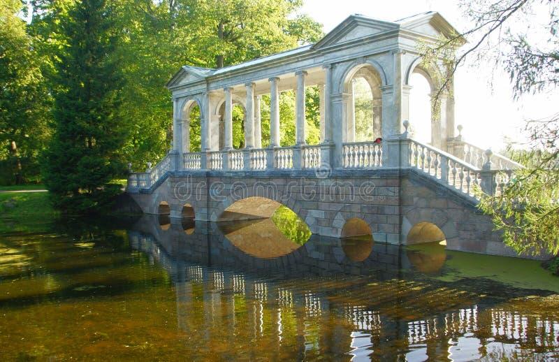 Σιβηρική γέφυρα στο πάρκο της Catherine στοκ φωτογραφίες