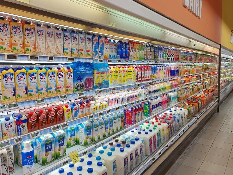 Σιγκαπούρη: Εισαγόμενο γαλακτοκομικό προϊόν σε έκθεση στοκ εικόνες με δικαίωμα ελεύθερης χρήσης