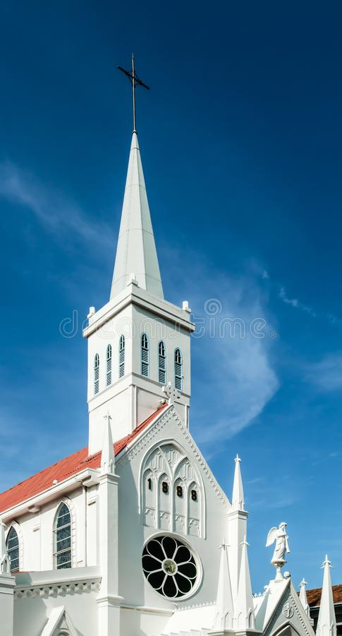 Σιγκαπούρη η κυρία μας καθολικής παλαιάς εκκλησίας Lourdes στοκ φωτογραφία με δικαίωμα ελεύθερης χρήσης
