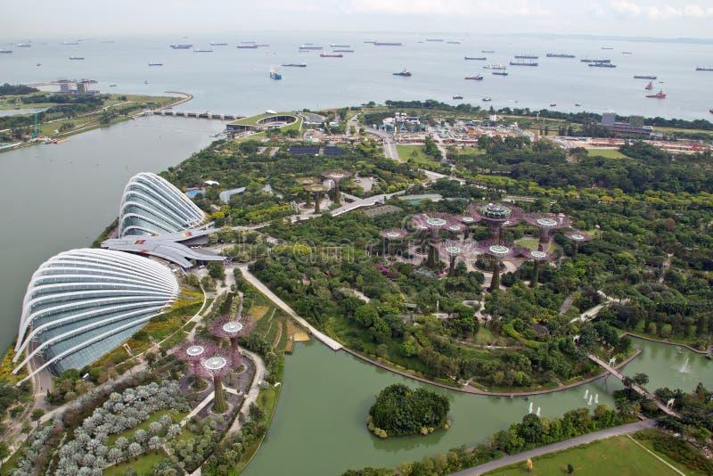 Σιγκαπούρη, κήποι από τον κόλπο, θόλος λουλουδιών στοκ φωτογραφία με δικαίωμα ελεύθερης χρήσης