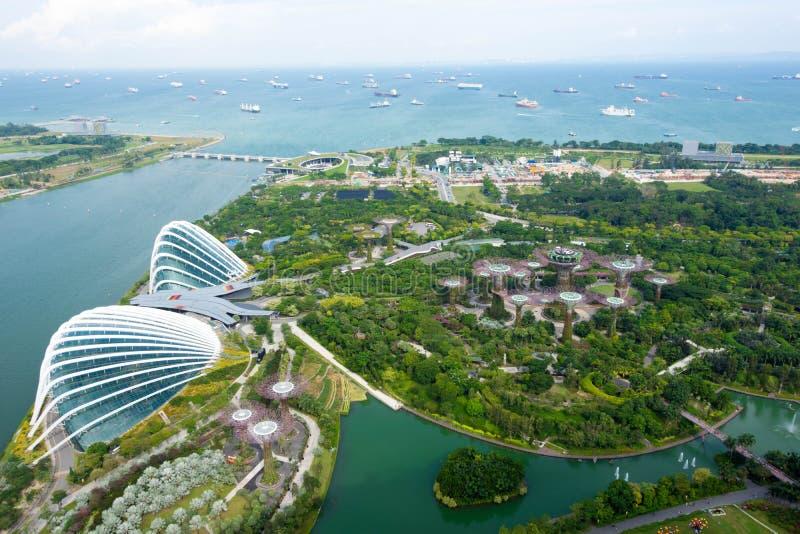Σιγκαπούρη - 11 Νοεμβρίου 2017: Άποψη οριζόντων της Σιγκαπούρης GA στοκ φωτογραφίες