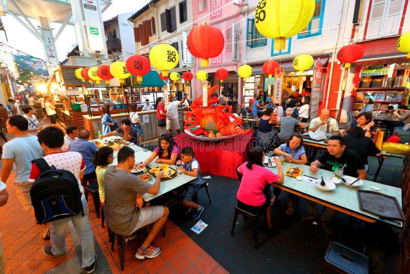 Σιγκαπούρη: Οδός τροφίμων Chinatown στοκ εικόνες