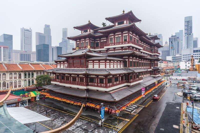Σιγκαπούρη, Σιγκαπούρη - το Σεπτέμβριο του 2015 circa: Ναός και μουσείο λειψάνων δοντιών του Βούδα σε Chinatown, Σιγκαπούρη στοκ φωτογραφίες