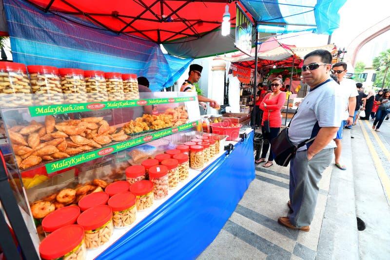 Σιγκαπούρη: Τρόφιμα οδών στοκ φωτογραφίες