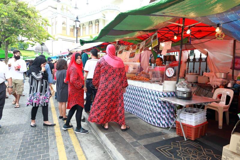 Σιγκαπούρη: Τρόφιμα οδών στοκ εικόνα με δικαίωμα ελεύθερης χρήσης