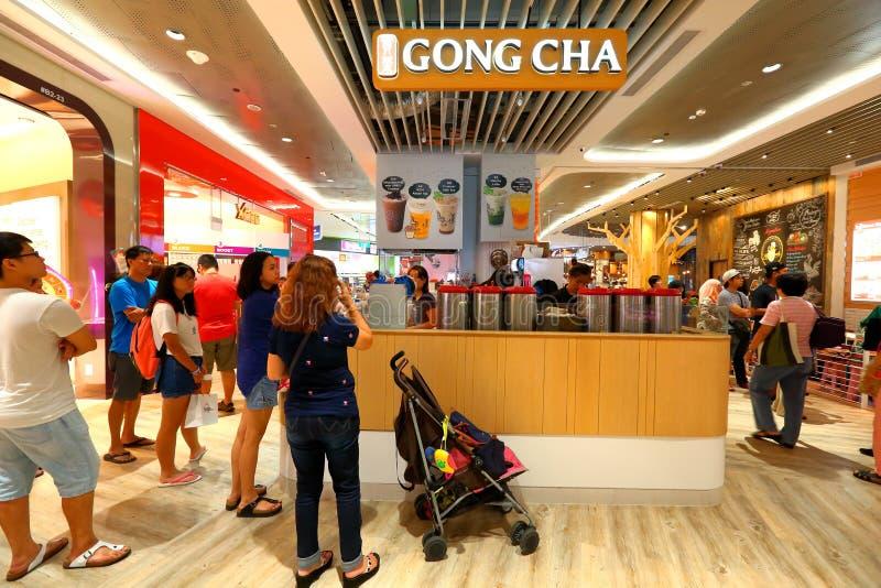 Σιγκαπούρη Gong Cha στοκ εικόνες