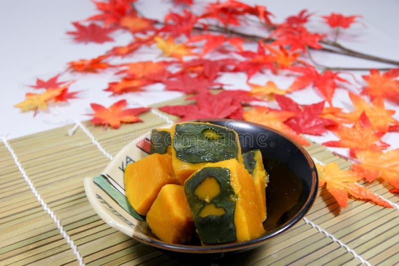 Σιγοβρασμένη κολοκύθα που γίνεται με το ιαπωνικό ύφος στοκ φωτογραφίες με δικαίωμα ελεύθερης χρήσης