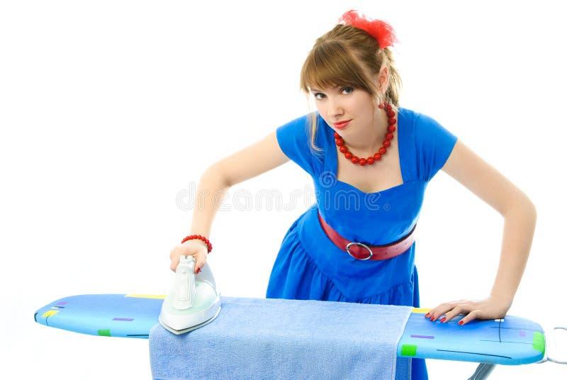 σιδέρωμα νοικοκυρών ενδ&up στοκ εικόνες