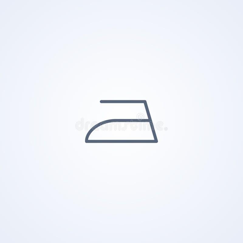 Σιδέρωμα, σίδηρος, διανυσματικό καλύτερο γκρίζο εικονίδιο γραμμών διανυσματική απεικόνιση