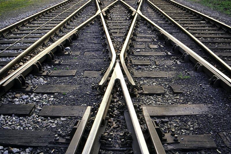 σιδηροδρομικές γραμμές στοκ εικόνες με δικαίωμα ελεύθερης χρήσης