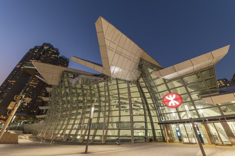 Σιδηροδρομικός σταθμός δυτικού Kowloon Χονγκ Κονγκ στοκ φωτογραφία με δικαίωμα ελεύθερης χρήσης