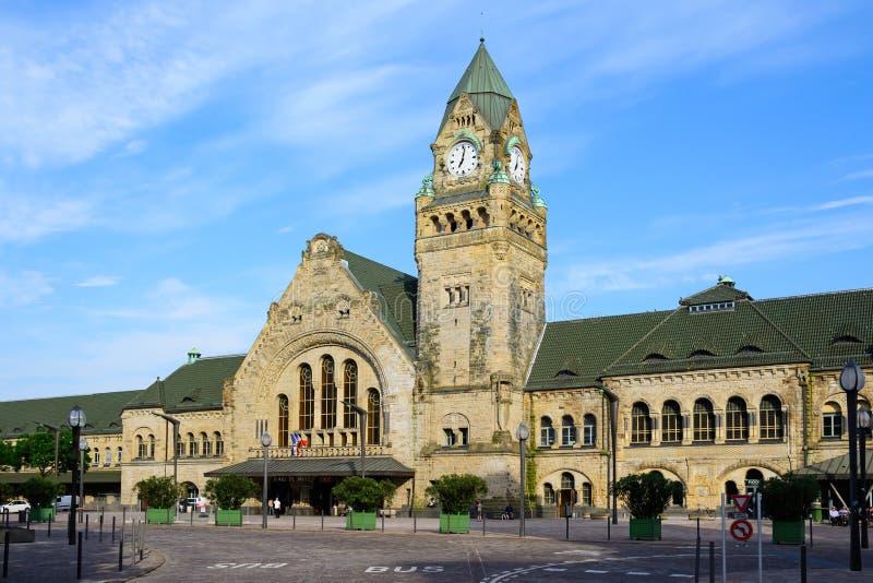 Σιδηροδρομικός σταθμός στην πόλη του Μετς, πρωτεύουσα της Λωρραίνης, Γαλλία στοκ εικόνες