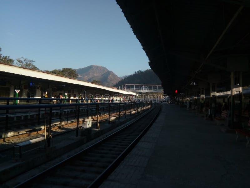 Σιδηροδρομικός σταθμός της Kath godam, Ινδία στοκ φωτογραφίες