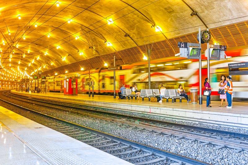 Σιδηροδρομικός σταθμός του Μονακό στοκ εικόνες